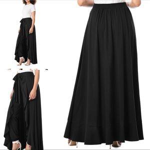 EShakti ruffle wrap skirt/pant Size 14 black